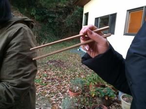 古材のお箸の完成です♪